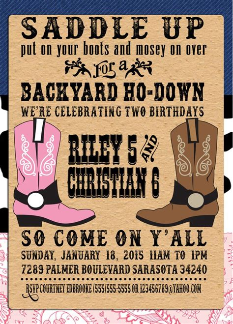 Cowboy Themed Baby Shower Decorations - 25 best ideas about western invitations on pinterest cowboy party decorations cowgirl party
