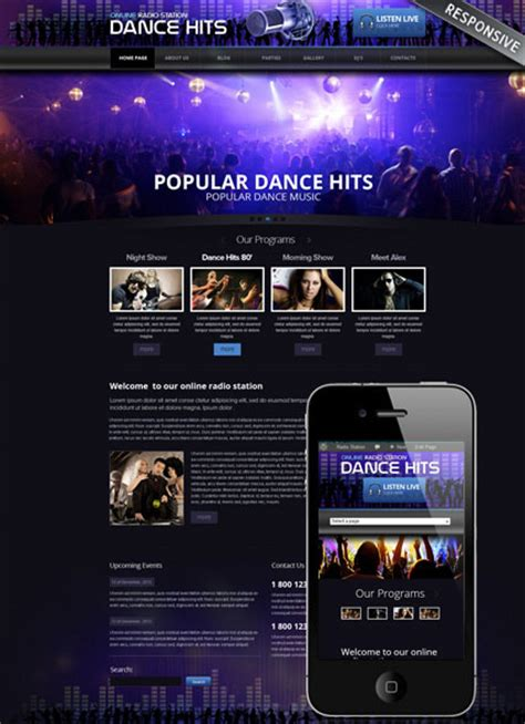 templates for radio website 10 most popular radio templates tonytemplates blog