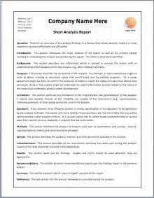 Fire Investigation Report Template short analysis report format printable templates
