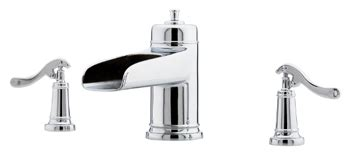 price pfister gt531 ypc ashfield polished chrome two price pfister rt6 5ypc ashfield two handle roman tub
