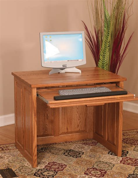 36 Computer Desk Amish Flat Top Computer Desk 36 Quot With Raised Panel Back