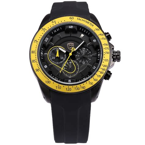 Top 7 Watches by Top Shark Sport Brand Rubber Band Tag Black Yellow