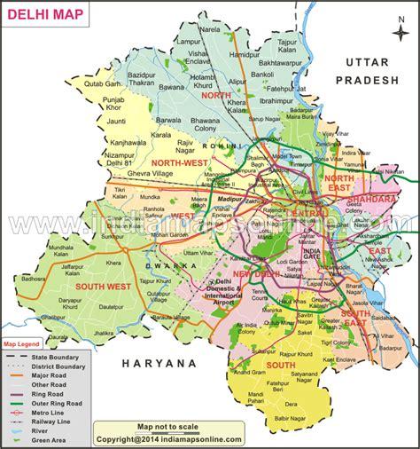 political map of delhi delhi map map of delhi