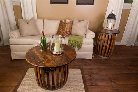 stave end table stave and hoop end table napa east