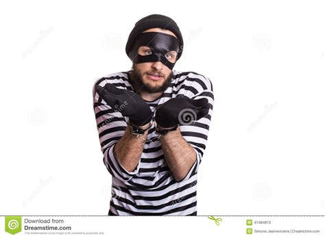 A White With A Criminal Record Is More Likely To Get A Sad Criminal With Handcuffs Stock Photo Image 41484813
