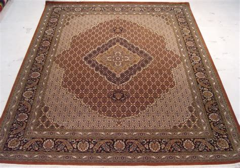 High Quality Area Rugs 8 X 10 High Quality Wool Osmanabad Prestigious Wool Silk Tabriz Area Rug Ebay