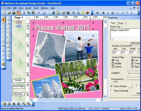 scrapbook layout software free download scrapbook design studio 2 2 2002 free