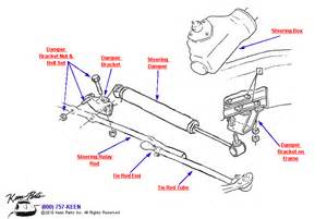 1953 2017 corvette manual steering assembly parts parts