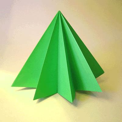 How To Make Tree Model From Paper - origami pine tree