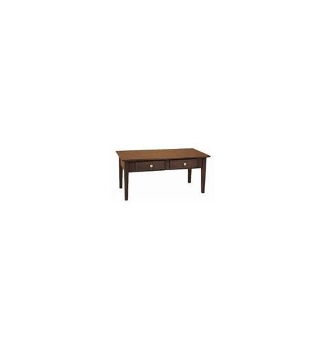 40 inch alder shaker coffee table bare wood wood