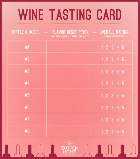 free wine tasting card template how to host a blind wine tasting sutter home family