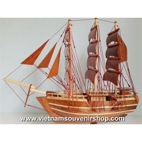 Boat Handmade - wood model ship 20 handmade sail boat desk