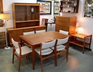 Mid Century Modern Dining Room Sets Found In Ithaca 187 Danish Modern Skovby Dining Table Amp Six