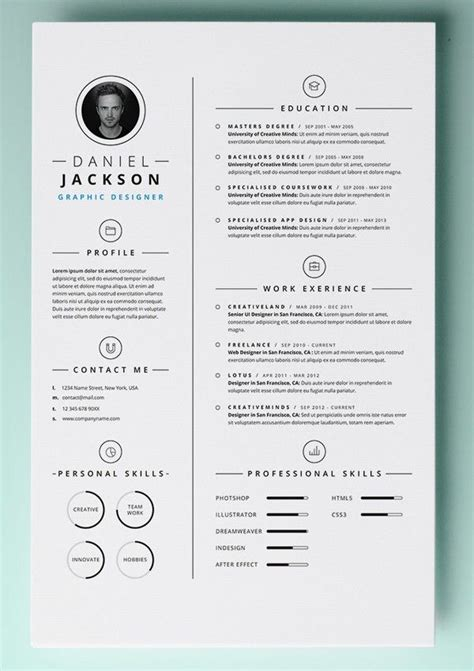 Free Resume Templates For Word by 30 Resume Templates For Mac Free Word Documents
