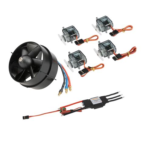 Dynam 64mm Edf Power Combo Set dynam detrum dy 1020 64mm edf 4100kv motor 4pcs 9g servo 40a brushless esc power combo set