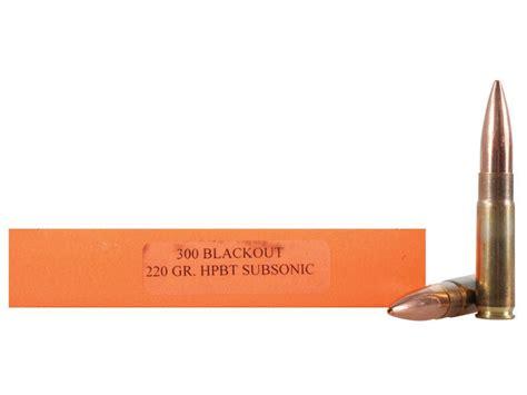 Bettdecke 300 X 220 by Hsm Ammo 300 Aac Blackout Subsonic 220 Grain Mpn