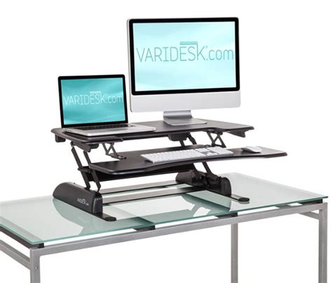 converting desk to standing desk convert your existing desk to a standing desk with varidesk