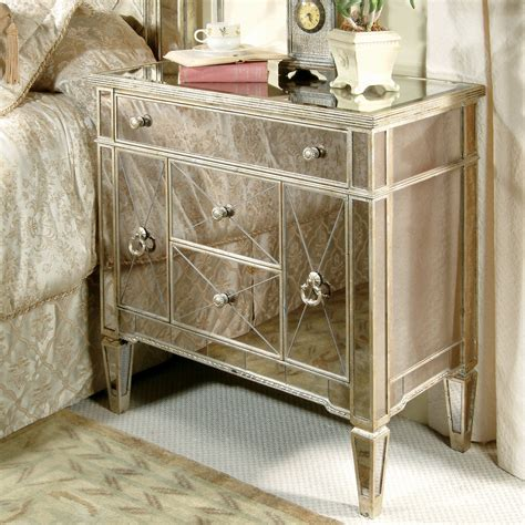mirrored furniture bedroom bedroom awesome mirrored nightstand design with beds and