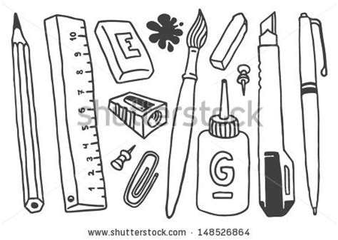 school stationery coloring pages stationary colouring images reverse search