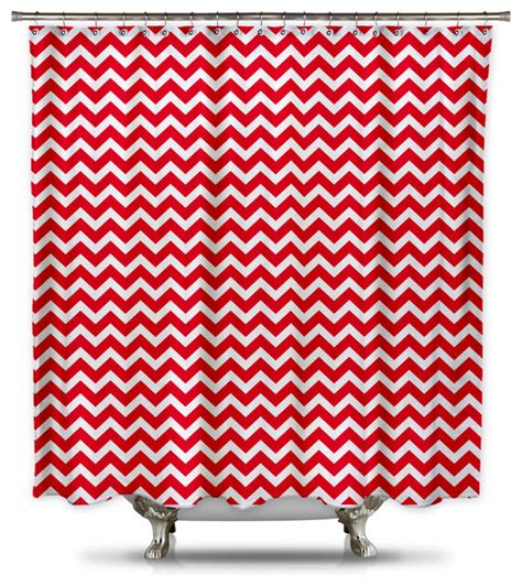 extra long red curtains red and white chevron shower curtain extra long