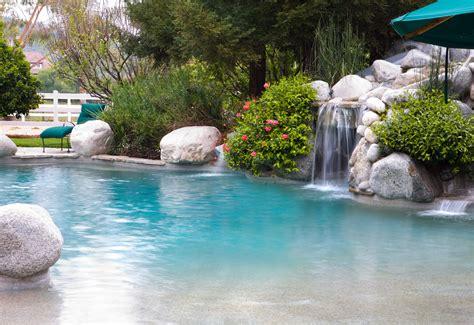 backyard beach pool pool waterfall kit design homesfeed