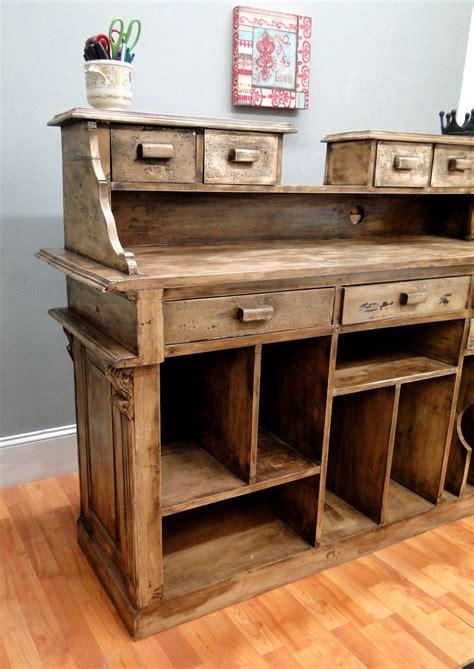 cottage chic antique store counter restaurant desk
