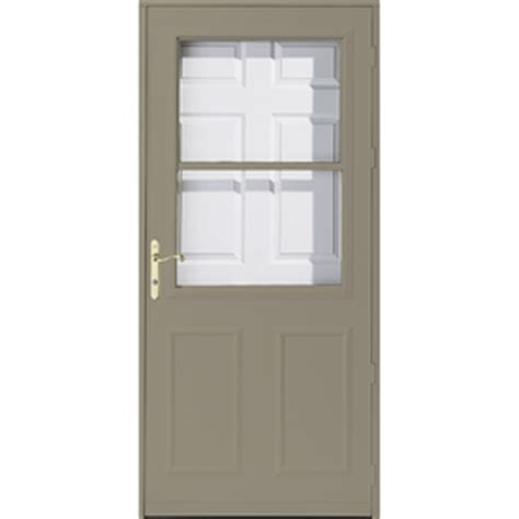 pella retractable screen door shop pella olympia putty high view safety wood retractable