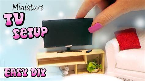 dollhouse tv easy miniature doll tv remote stand tutorial diy