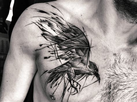 10 magic black raven tattoo designs