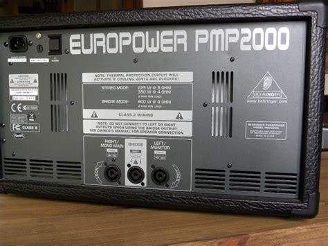 behringer europower pmp2000 powered mixer behringer europower pmp2000 image 542914 audiofanzine