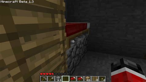bed in minecraft minecraft how to make a bunk bed youtube