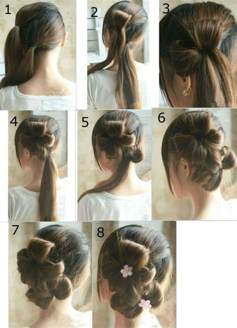 easy hairstyles step by step with pictures latest party hairstyles step by step 2017 for girls