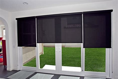 roll up shades for sliding glass doors verticals are not the only option for sliding glass doors