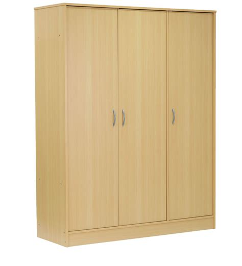 Beech Wardrobes Three Door Wardrobe In Beech Finish By Mintwud By Mintwud