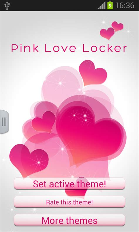 love pink themes pink love locker free android theme download appraw
