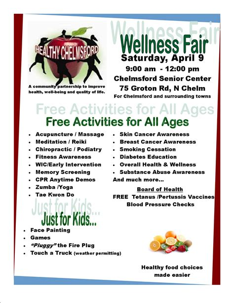 7 Best Images Of Church Health Fair Flyer Free Community Health Fair Flyers Community Health Health And Wellness Flyer Template