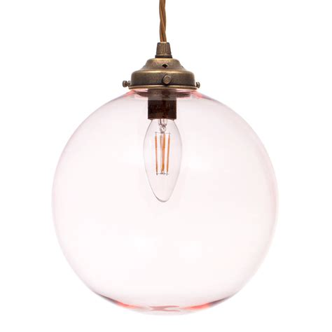 Pink Glass Pendant Light Charcoal Coloured Glass Brass Pendant Light Jim