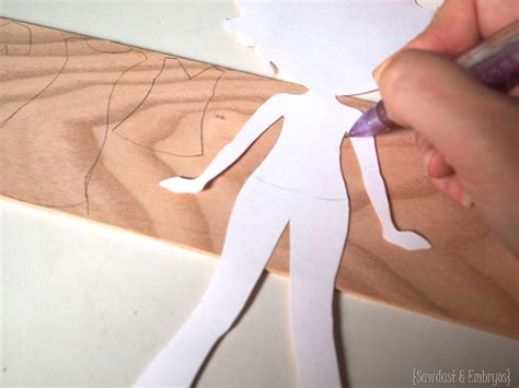 How To Make A Paper Doll Dress - diy wooden paper doll tutorial sawdust and embryos