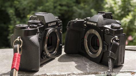 Kamera Olympus Omd Em1 olympus om d e m1 vs fujifilm x t1