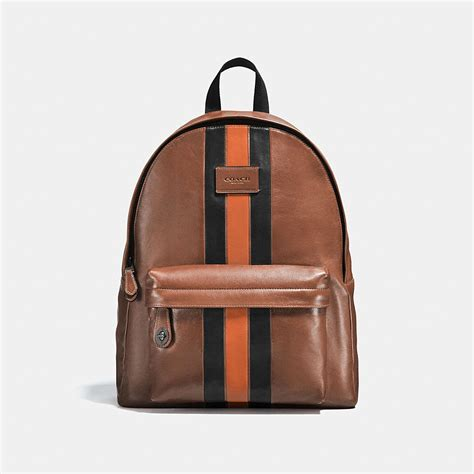 Coach Backpack 6851 1 coach cus backpack with varsity stripe