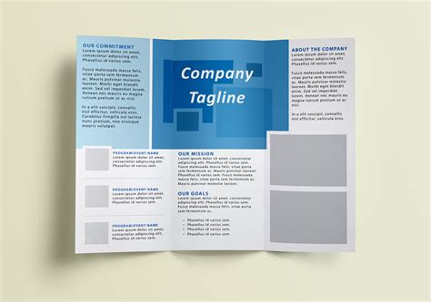 informational brochure templates modern blue informational tri fold brochure template