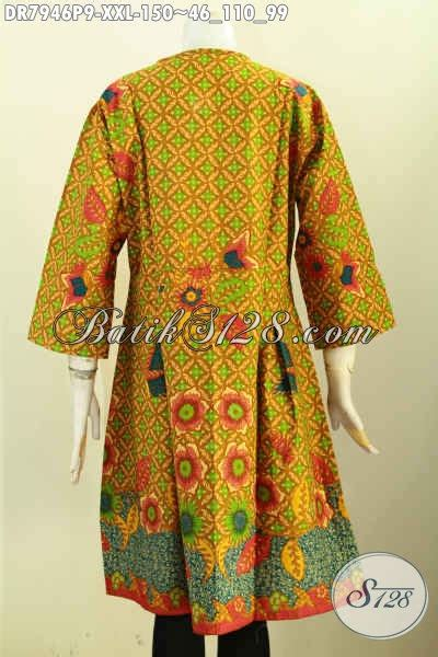 Dress Anak Erika Bunga Printing baju batik dress motif bunga busana batik terusan big