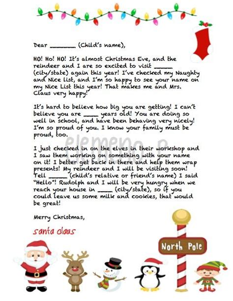 Gift Letter To Child 1000 Ideas About Santa Letter On Letter From Santa Santa Letter Template And