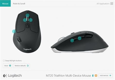 logitech app logitech m720 triatholon multi device wireless mouse review