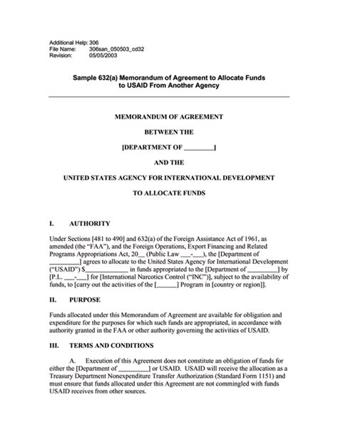 Transmittal Letter Usaid Ads Reference 306san U S Agency For International Development
