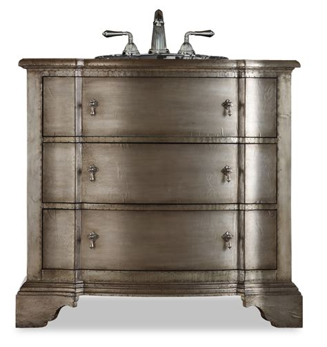 Silver Bathroom Vanity 38 25 Inch Single Sink Bathroom Vanity In Antique Silver Uvcac11222755383538