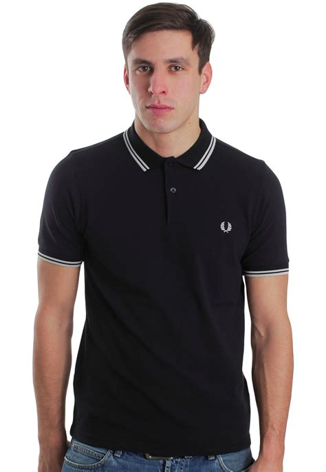 Fred Perry fred perry slim fit tipped black porcelain
