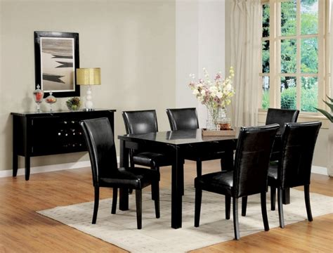 black dining room table set dining room amazing black dining table set black table