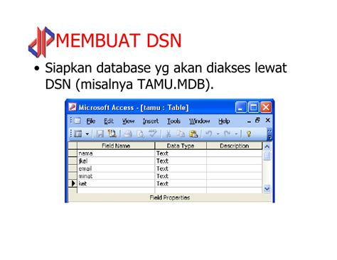 membuat database xp web ii php 10 odbc 1