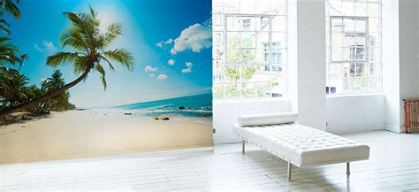 Beach Themed Wall Murals tropical wall murals beach wall murals eazywallz